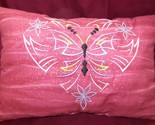 butterfly heart pillow