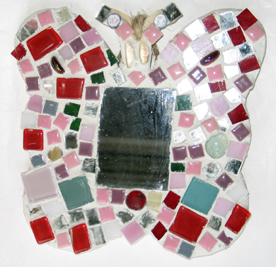 random butterfly mosaic