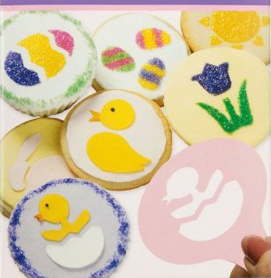 easter cookies cupcakes & coffee stencils
