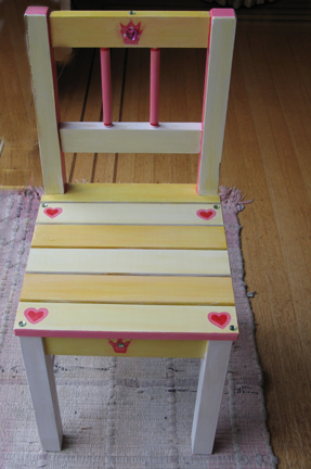 How to Paint a Princess chair