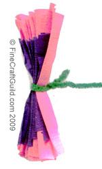 tissue paper flowers © FineCraftGuild.com 2013