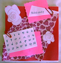 Craft a Simple, Marvellous  Desk Calendar – February Page