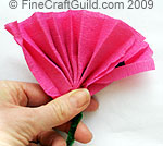 free paper flower making tutorial - fold-over - © FineCraftGuild.com 2009