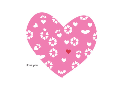 cute heart card free downloadable
