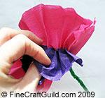 paper flower pedal pulling © FineCraftGuild.com 2009