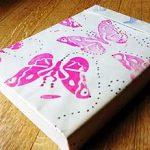 butterfly stamp book cover