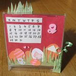 Craft a Simple Desk Calendar – March Scrapbooking Page