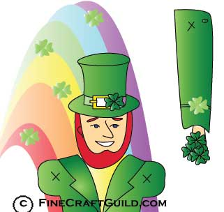 Free St Patricks Day Crafts Templates: Prancing Leprechauns