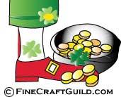 leprechaun - St Patricks Day - FineCraftGuild.com