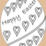free craft easter egg coloring pages