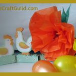 Easter Table Decorations with Paper Flowers