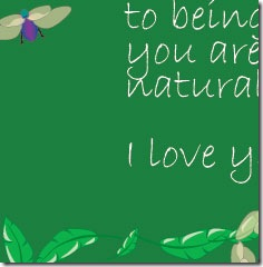 Natural fathers day card... fragment .. FineCraftGuild.com