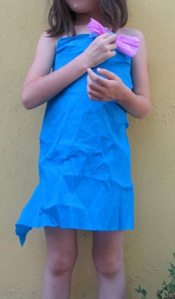 girl simple paper dresses
