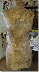 how to make a paper dress form