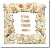 shell mosaic frame w pearls
