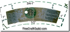 Starbucks coffee cup sleeve template