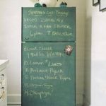 painted chalkboard on fridge