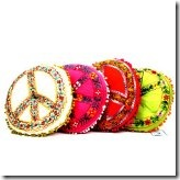 decorative pillows w peace symbols