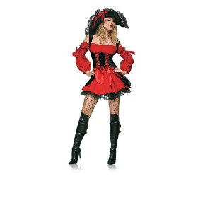 gorgeous pirate woman Halloween costume