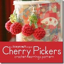 crochet fruit earrings