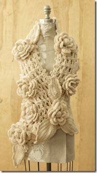 gorgeous rose crochet scarf