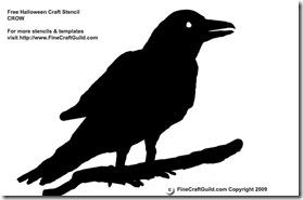 halloween silhouettes raven