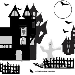 haunted houses Halloween decorations