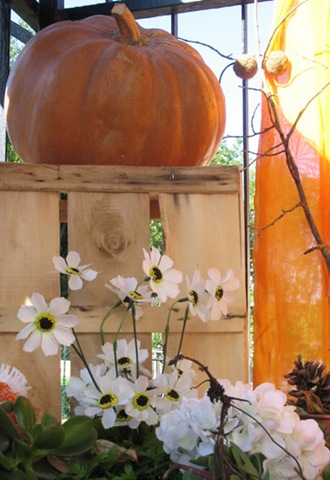 Fall Balcony: Halloween Display