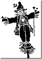 halloween stencil scarecrow