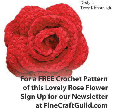 Easy Crochet Flowers - free rose pattern