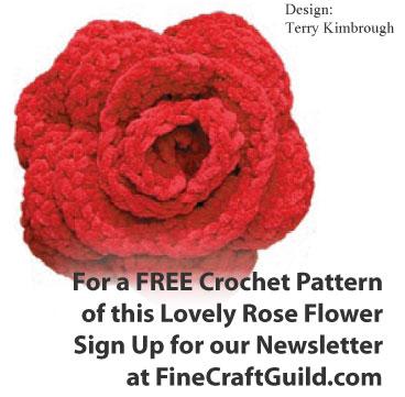 Easy Crochet Flowers - free rose pattern