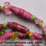 rolled paper beads necklace