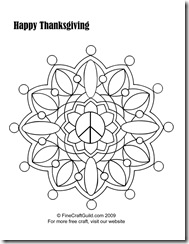 Thanksgiving coloring page :: Fine Craft Guild.com
