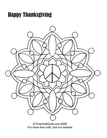 Free Thanksgiving Coloring Pages to Print: Mandala & Scarecrow