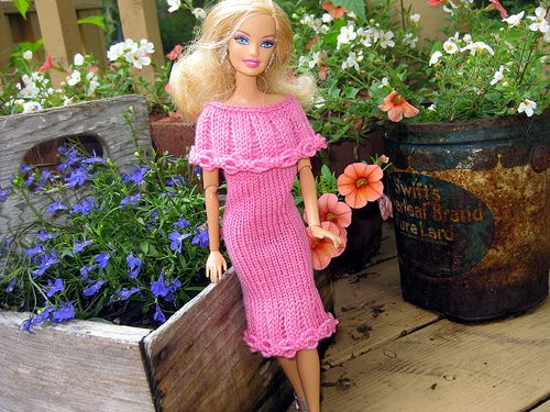 cute Barbie dresses knitting pattern