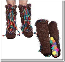 funky crochet slipper boots