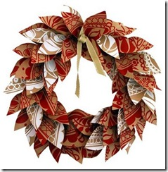 Paper Holiday Wreath