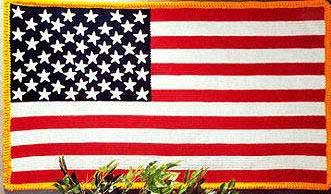 American flag crochet Afghan