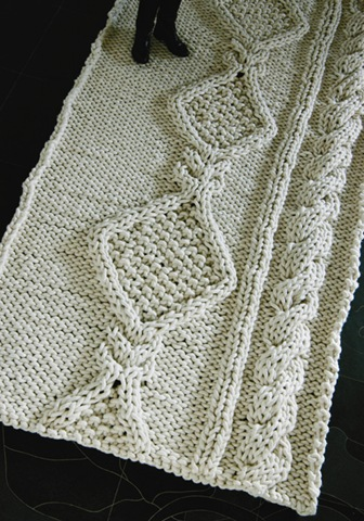 Knit Aran Rug :: area rugs :: free patterns