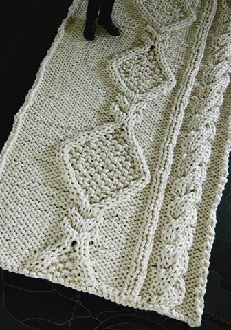 aran rug giant knit