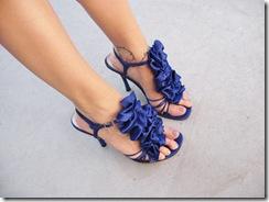 blue rose ruffle shoes