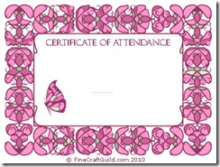 Free Certificate of Attendance Template Design
