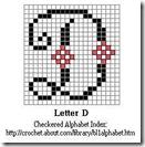 crochet alphabet letter D
