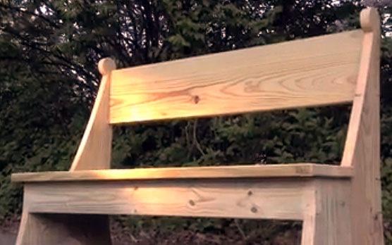 DIY wooden garden bench