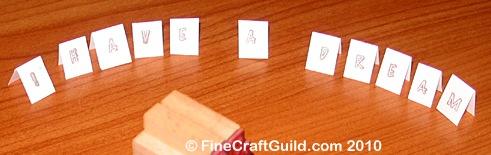 paper craft, I have a dream - garland, martin luther king craft, FineCraftguild.com