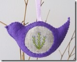 lavender scented bird ornament