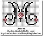 M crochet alphabet letter