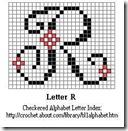 R crochet alphabet letter