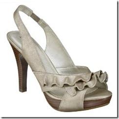 ruffle sandal xhilaration metalic