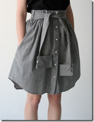skirt made from men shirt :: finecraftguild.com
